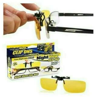 Kacamata Anti Silau Night View Glasses Clip