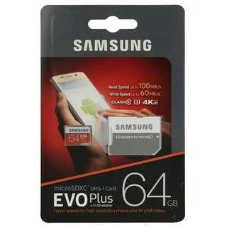 Memory card evo Samsung 64Gb