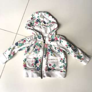 Carters floral baby jacket