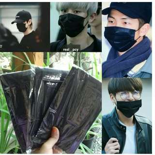 Masker mulut Kpop Black, White dan Grey