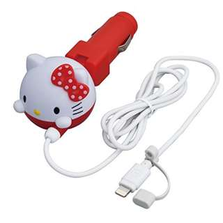 (FROM JAPAN) Seiwa Hello Kitty Car Charger (Lightning)
