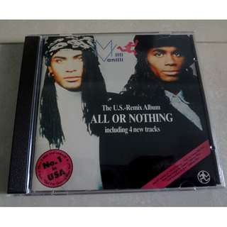 Milli Vanilli CD All Or Nothing