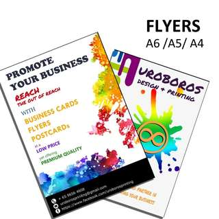 Cheap and Quality Flyer Printing and Design