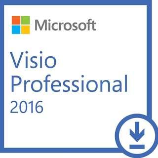 100%正版 Microsoft Visio 2016 Pro / Project 2016 Pro