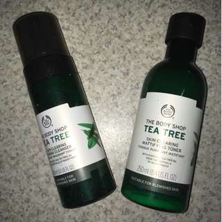 Tea Tree Set ( Toner and Foaming Cleanser) from Body Shop