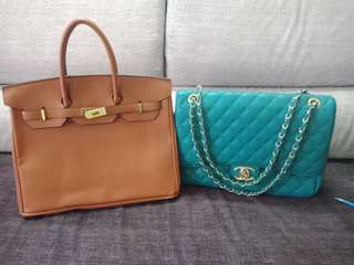 Chanel maxi and hermes birkin