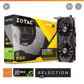 BNIB ZOTAC GeForce GTX 1070Ti AMP Edition