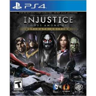 [NEW NOT USED]  PS4 INJUSTICE: GODS AMONG US ULTIMATE EDITION Sony Fighting Warner Home Video