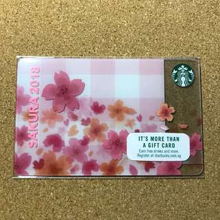🚚 Singapore Starbucks Sakura Card 2018