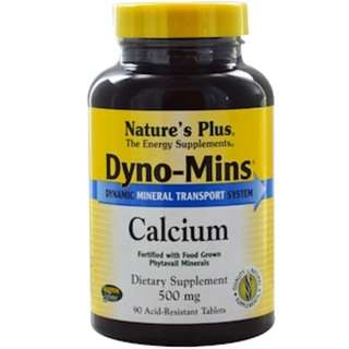 Nature's Plus, Dyno-Mins, Calcium, 500 mg, 90 Acid-Resistant Tablets