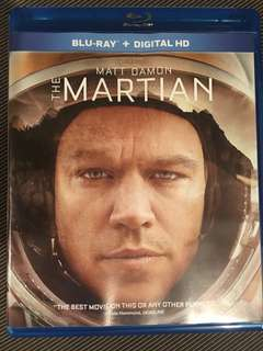 THE MARTIAN BLURAY BLU-RAY
