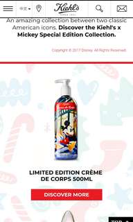 Kiehl's Mickey Mouse Holiday Collection 500ml