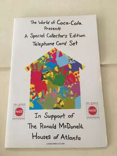 Coca-Cola / Ronald McDonald Collectible Phonecarc