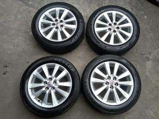 "Toyota Altis 16"" Stock Mags and Tires"