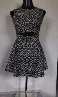 Floral cutout dress-currently out of stock