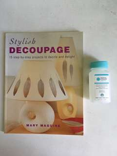 Decoupage Book and Decoupage Glue
