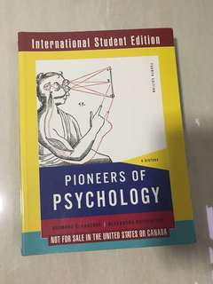 PL4202 Pioneers of Psychology