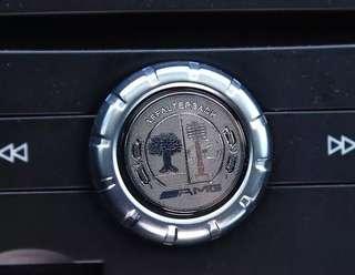 🚚 AMG 內裝 車貼 貼紙 BENZ 賓士 音響鈕 旋鈕貼 按鈕  方向盤 鑰匙 蘋果樹 貼標 w202 204 CLA