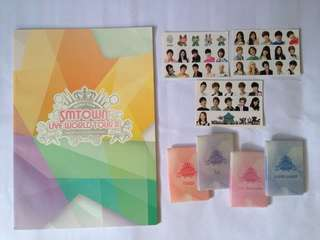 SMTOWN - SM TOWN Live World Tour - official goods merch - brochure photobook sticker sets photocard set - Yoona Krystal Kyuhyun Changmin Yunho