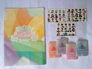 SMTOWN - SM TOWN Live World Tour - official goods merch - brochure photobook sticker sets photocard set - Yoona Krystal Kyuhyun Changmin Yunho