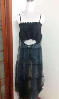 長版蕾絲裙