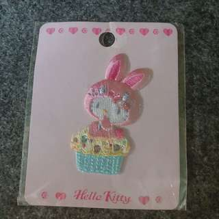 Hello Kitty Iron-On Patch (Rabbit Series, Pink)