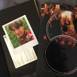 BTS Young Forever Album Night Ver. w/ Suga photocard