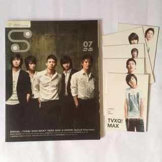 S Magazine - TVXQ DBSK - with mini photobooks Changmin Jaejoong yunho xiah junsu micky yoochun