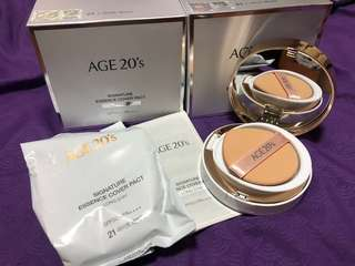 2018 AGE 20's SIGNATURE ESSENCE COVER PACT (total 2 refill pack + 1 casing)