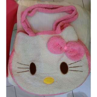 Cute hello kitty fluffy bag