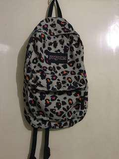 Jansport backpack leopard print