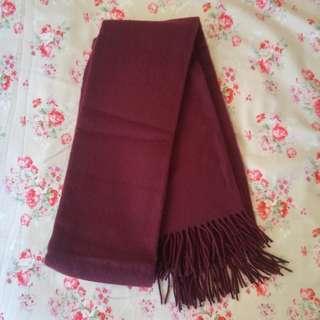 🚚 酒紅色保暖大圍巾