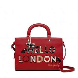 英國代購LONDON'S CALLING MEDIUM MULTIWAY COMPARTMENT GRAB BAG