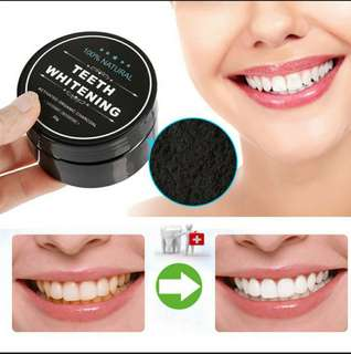 [ High Positive Rating ] Daily Use Teeth Whitening Scaling Powder Oral Hygiene Cleaning Packing Premium Activated Bamboo Charcoal Powder