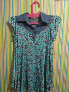 blouses kerah floral