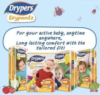 [READY STOCK] Drypers Drypantz (4 Packs) + FREE DELIVERY