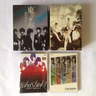 DBSK TVXQ Official DVD - All about DBSK season 1 and 3 - tohoshinki concert vol 2 and 3