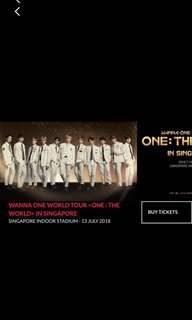 [PRICE LOWERED] WTS SELLING WANNA ONE CAT 1 PEN C TICKET