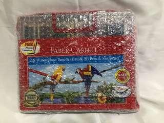 FABER-CASTELL WATERCOLOUR PENCILS WONDER BOX 48 COLOUR