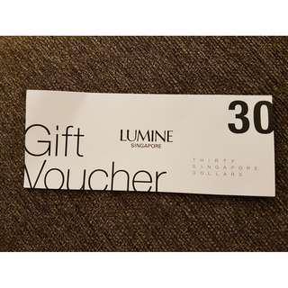 LUMINE cash voucher S$30