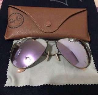 🚚 Ray Ban 飛行水銀紫色太陽眼鏡