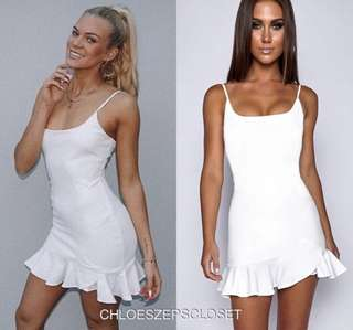 White frill bottom dress worn once