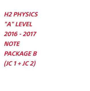 ∆ ACJC H2 PHYS NOTE (PACKAGE B) SOFTCOPY