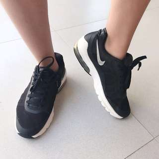Nike Air Max Running Training Shoes Sepatu Sekolah Olahraga Hitam