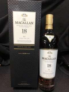 Macallan 18 有18 支