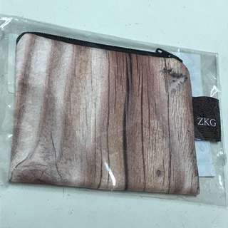 🚚 木紋零錢包 微污