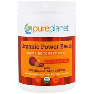 Pure Planet, Organic Power Beets, Rapid Recovery Fuel, Passion Fruit, Orange, Guava, 160 g