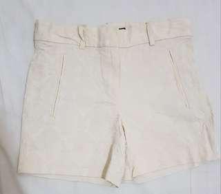 Zara cream shorts