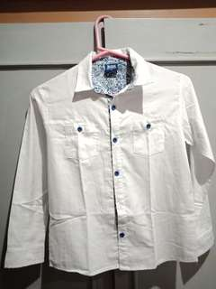 BGS White Long Sleeves Polo