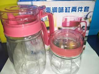 Glass jar for tea